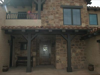 Brand new spanish style home, adobe, timbers, natural stone