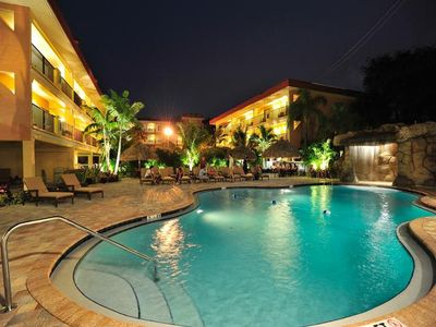 Beautiful Florida nights at the Coconut Cove pool