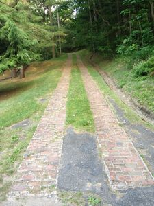 Oringinal brick driveway from the 30's. Still works great!