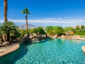 La Quinta house rental - Pebble Tec Saltwater Pool, Spa & Cascading Waterfall!