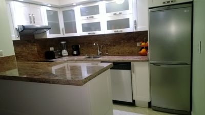 Gorgeous New Kitchen With Bottled Water Dispenser Faucet at Sink, Bottom Freezer Refrigerator