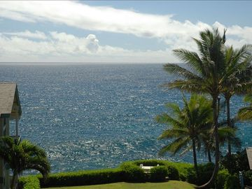 Poipu condo rental - Ocean view from lanai