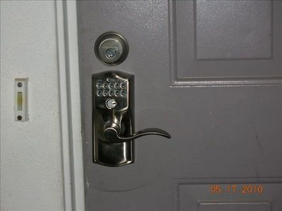 Electronic lock...No key entry