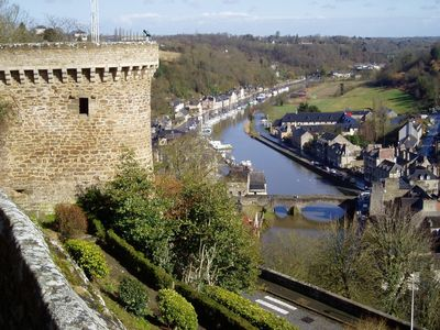 Dinan house rental - The view of the old port from the Jardin Anglais