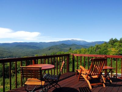 Master bedroom deck, view of Presidential Range