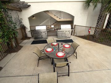 Outdoor Grilling area on Pool Deck