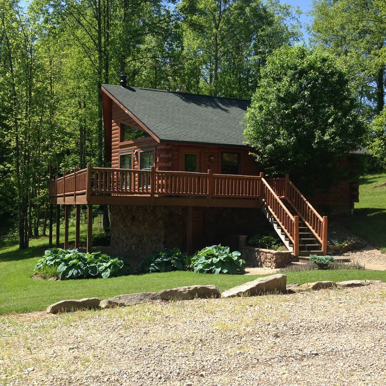 secluded cabin near tappan lake homeaway deersville