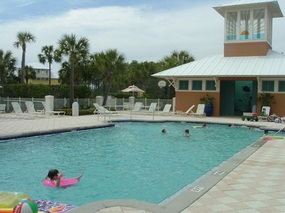 Family pool and playground at Carillon provide hours of fun and relaxation