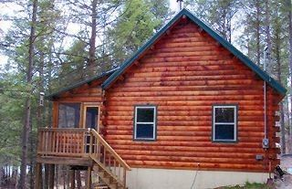 Green Lake cabin photo - Log cabin with screened-in porch