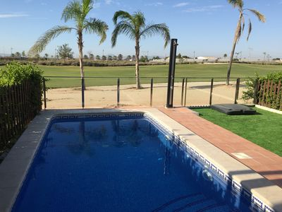 Front Line Golf South Facing Apartment with Private Pool and Garden
