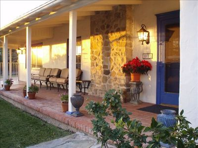 Front porch/entry facing sunset/mountain views