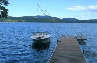 Schroon Lake house photo - Dock and view of lake