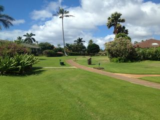 Poipu house photo - PATH WEST FROM HOME TO POOL, TENNIS, POIPU BEACH, BABY BEACH, BRENNEKES, WAIOHAI