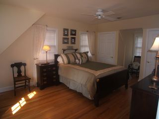 Wilmington house photo - Spacious Master Bedroom with flat screen TV