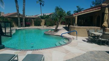 Chandler house rental - Basketball, Pool time, covered patio, Loungers, Umbrellas, Tables and Chairs