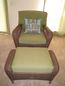 Eat Sleep Beach A great goal for the beach. This is a swivel rocker in Master