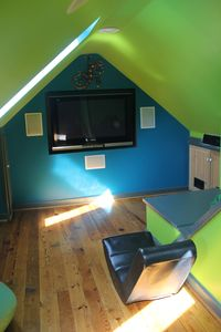 Secret hideaway for children with flatscreen TV