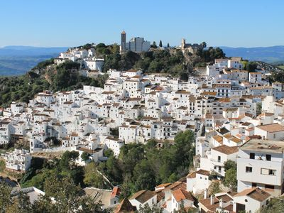 Andalucian white village house