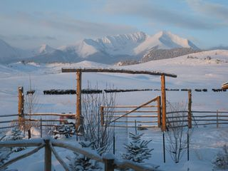 Big Timber cabin photo - Winter in Montana. Your view from the suite to the mountains/right