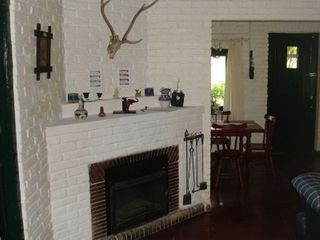 Punta del Este cottage photo - fireplace dining and living rooms