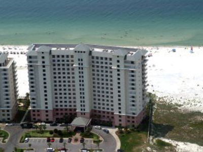 Doral Tower is right on the beach & has a covered unloading area.