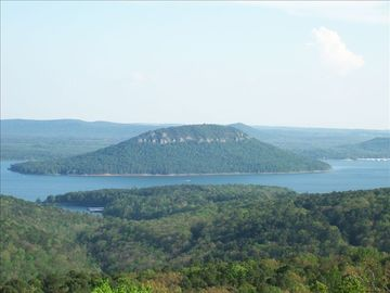 Greers Ferry Lake house rental - View of Sugarloaf Mountain from Balcony.