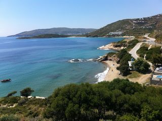 Andros villa photo - Closest beach to the house (about 3 minutes drive)