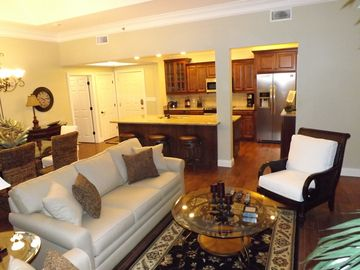 Long Beach Resort condo rental - A Custom and Open Floor Plan Provides Easy Access to Living, Dining and Kitchen