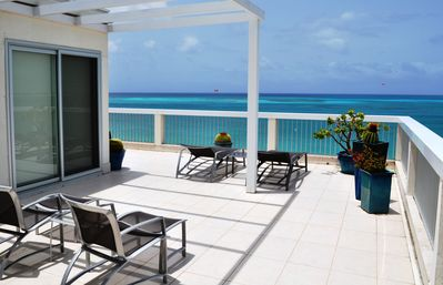 Providenciales - Provo condo rental - East side of Balcony - A View that Inspires and Room to Move