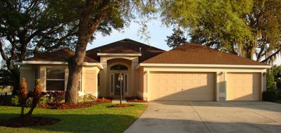 Expanded Lantana Designer floor plan constructed of Stucco with 3 car garage.