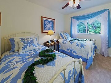 Twin Beds w/ Down Comforters and Luxury Linens