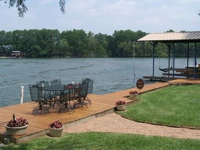 Relax or Swim on the Waterfront Deck