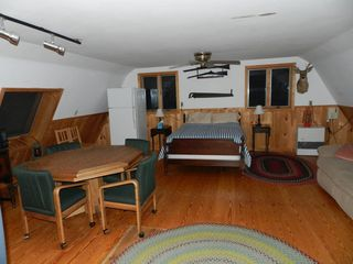 Moultonborough house photo - Upstairs Lounge/Gameroom w Full Bed for 2 adults, Poker-Eating Table, Refrig, MW