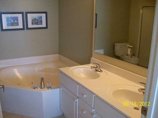 Cherry Grove Beach condo photo - Master bath with whirlpool tub and separate shower