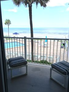 Family room with great pool and ocean view always! BREEZE too!! Relax here!