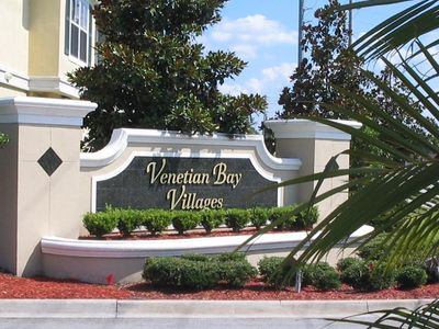 Venetian Bay townhome rental - Main Entrance to our gated community with 24 hour security