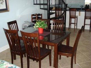 Wild Dunes condo photo - Dining Room seats 6; Bar seatas 4!