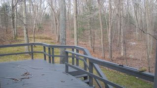 East Greenwich house photo - Large deck facing 20 acres of privacy..(outdoor furniture )