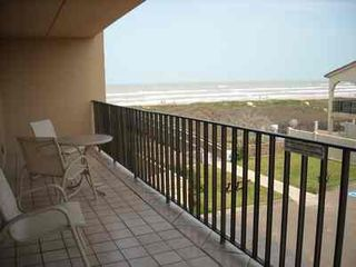 South Padre Island condo photo - Large south balcony with water and beach view