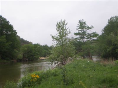 Pedernales River with average depths of 3 to 4 feet. No motor boats allowed.