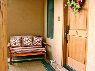 Santa Fe townhome photo - Bench at entryway.