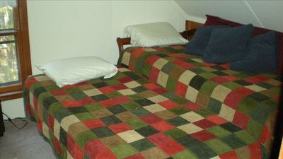 Upstairs Bedroom.  Both Bedrooms have pop-up trundle beds.  Each room sleeps 2.