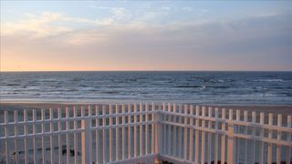 Galveston house photo - Huge front deck looking over the ocean. Sunrises, sunsets, and the stars gazing