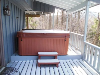 Covered Hot Tub on Lower Deck