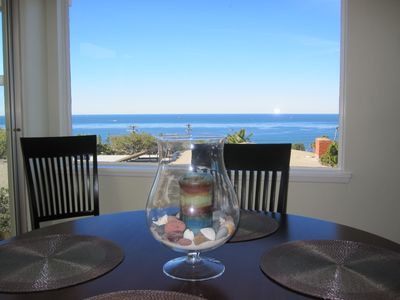 Dinning room table with ocean view.