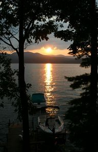 Beautiful Sunset on Lake George as photographed from our deck