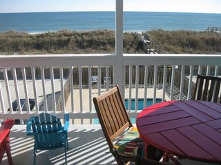 Carolina Beach condo photo - View off the porch of the beach and pool