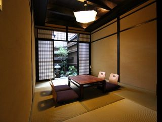 Comfortable Living Room decorated with modern Japanese design - Kyoto townhome vacation rental photo