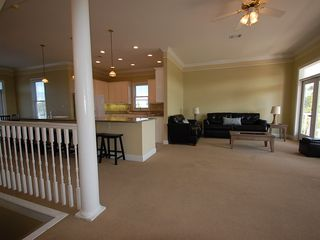 Fort Morgan property rental photo - The second floor features an open spacious concept:Living room, Kitchen, Dinning