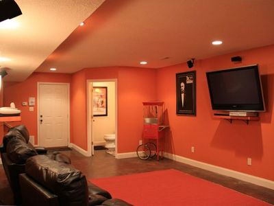 "The MAN CAVE :) w/ 54"" Plasma TV, Leather Theatre Seats, Bose System, & Fridge"